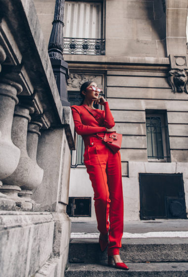 How to Wear Head-to-Toe Red Like Chriselle Lim