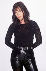 Maren Schumacher in vinyl pants