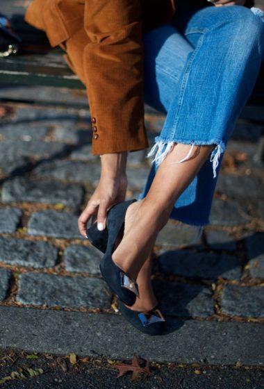 Suede Block Heel Shoes Giveaway